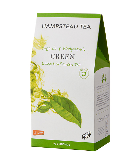 organic green tea from hampstead tea