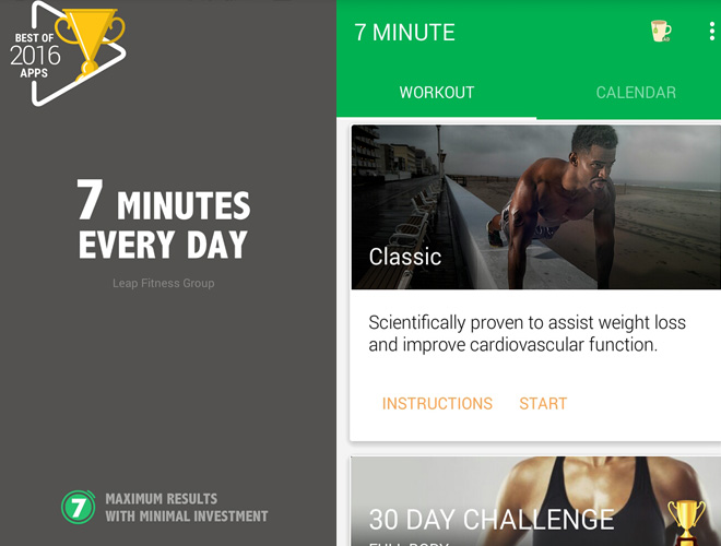 7 Minutes Workout app