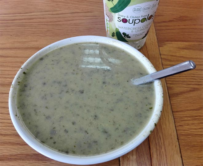 Soupologie watercress and quinoa soup