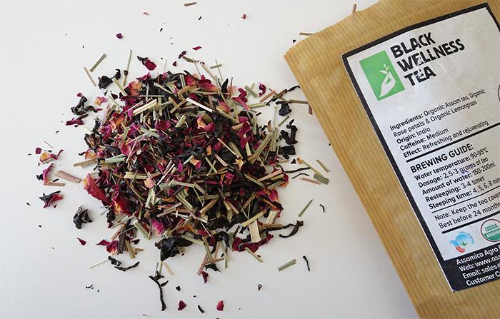 Assamica Agro Black Wellness Tea - black tea with rose petals and lemongrass