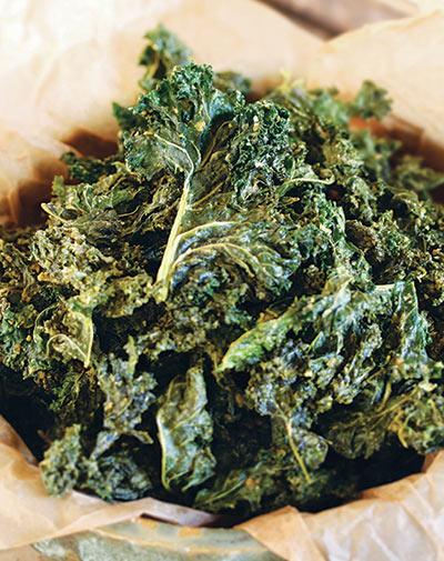 cheesy kale crisps