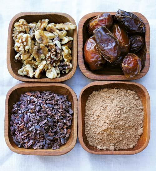 Ingredients for no-bake brownies